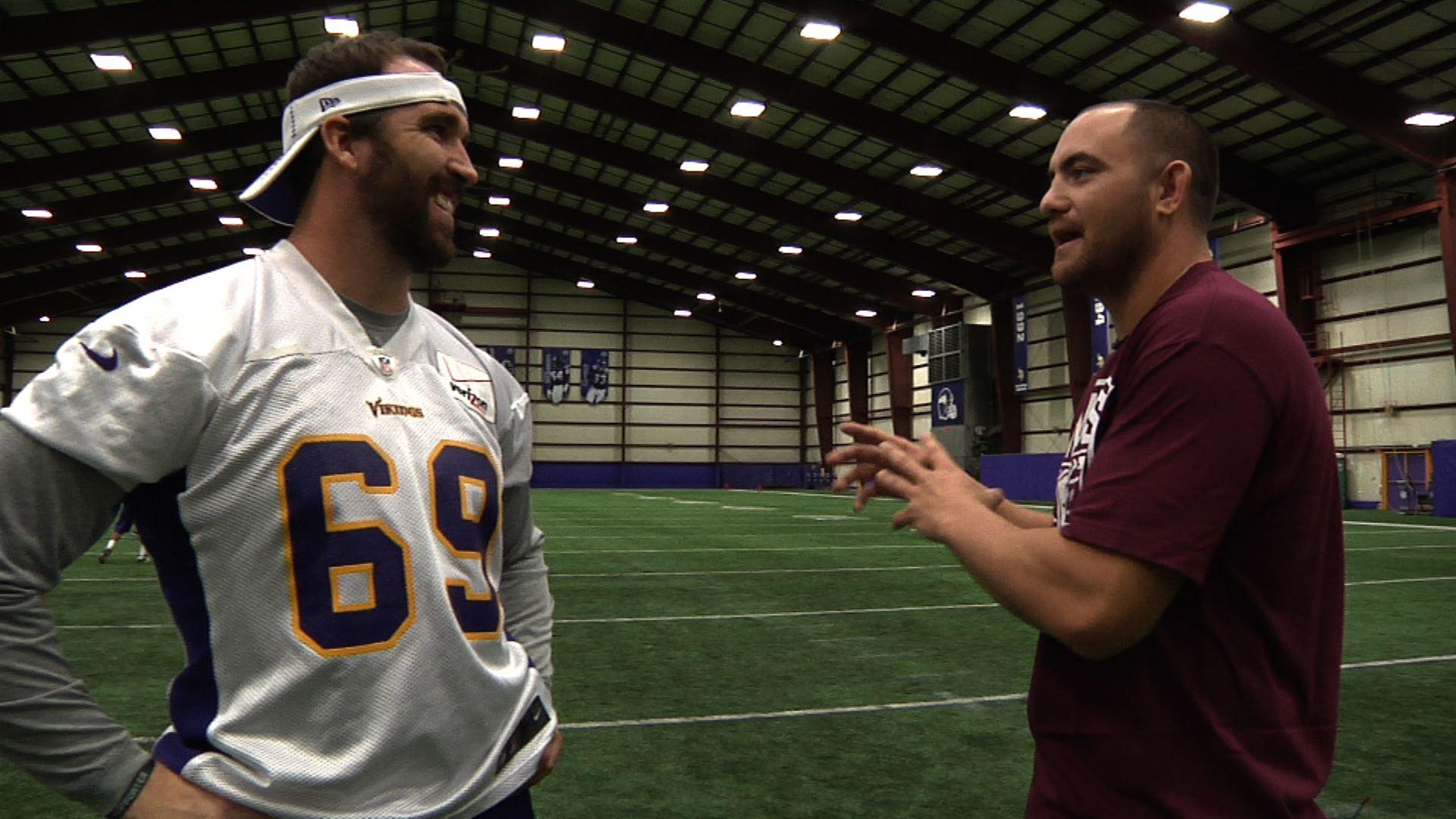 Travis Browne Joins Vikings Practice