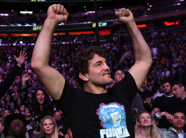 NEW YORK, NY - NOVEMBER 03:  <a href='../fighter/ben-askren'>Ben Askren</a> is seen in attendance during the UFC 230 event inside Madison Square Garden on November 3, 2018 in New York, New York. (Photo by Jeff Bottari/Zuffa LLC/Zuffa LLC via Getty Images)