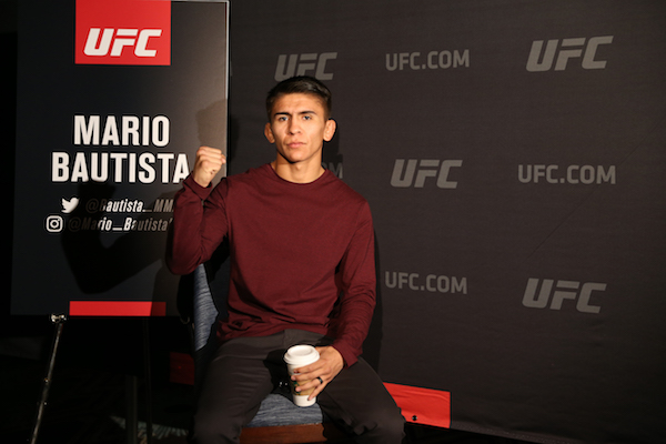 NEW YORK, NEW YORK - JANUARY 17: Mario Bautista attends the press conference ahead of UFC Fight Night Cejudo v Dillashaw at the New York Marriott Downtown Financial Ballroom on January 17, 2019 in New York City. (Photo by Michael Owens/Zuffa LLC/Zuffa LLC)