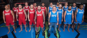 Team Garbrandt and Team Dillashaw pose for a portrait during the filming of The Ultimate Fighter: Redemption at the UFC TUF Gym on January 25, 2017 in Las Vegas, Nevada. (Photo by Brandon Magnus/Zuffa LLC)