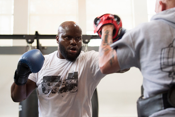 Derrick Lewis holds an open workout for the fans and media at Fortis MMA on May 11, 2017 in Dallas, Texas. (Photo by Cooper Neill/Zuffa LLC)