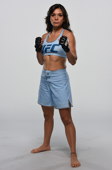 Nicco Montano poses for a portrait during the filming of The Ultimate Fighter: at the UFC TUF Gym in Las Vegas, Nevada. (Photo by Brandon Magnus/Zuffa LLC)