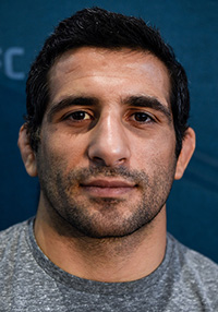 Beneil Dariush of Iran poses for a portrait during the UFC 216 &lt;a href='../event/<a href='../event/Ultimate-Brazil'>Ultimate-</a>Brazil'&gt;Ultimate &lt;/a&gt;Media Day on October 4, 2017 in Las Vegas, NV (Photo by Brandon Magnus/Zuffa LLC)