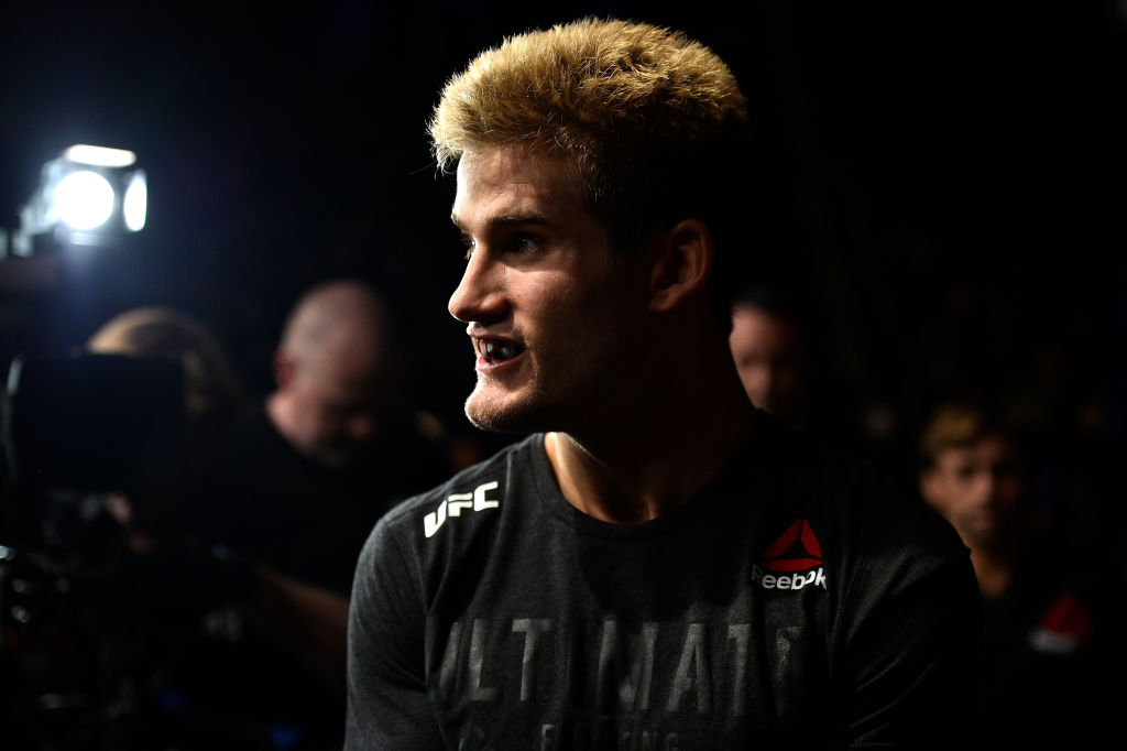 NORFOLK, VA - NOVEMBER 11: <a href='../fighter/sage-northcutt'>Sage Northcutt</a> prepares to enter the Octagon prior to facing <a href='../fighter/michael-quinones'>Michel Quinones</a> in their lightweight bout during the <a href='../event/UFC-Silva-vs-Irvin'>UFC Fight Night </a>event inside the Ted Constant Convention Center on November 11, 2017 in Norfolk, Virginia. (Photo by Brandon Magnus/Zuffa LLC/Zuffa LLC via Getty Images)