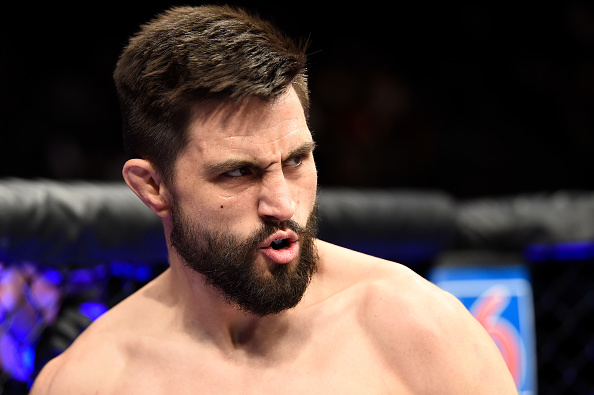 LAS VEGAS, NV - DECEMBER 30: <a href='../fighter/Carlos-Condit'>Carlos Condit</a> prepares to fight <a href='../fighter/Neil-Magny'>Neil Magny</a> in their welterweight bout during the UFC 219 event inside T-Mobile Arena on December 30, 2017 in Las Vegas, Nevada. (Photo by Jeff Bottari/Zuffa LLC/Zuffa LLC via Getty Images)