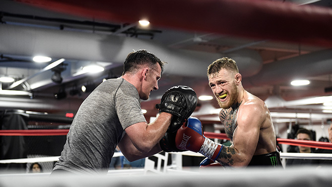 Owen Roddy trains UFC champion Conor McGregor