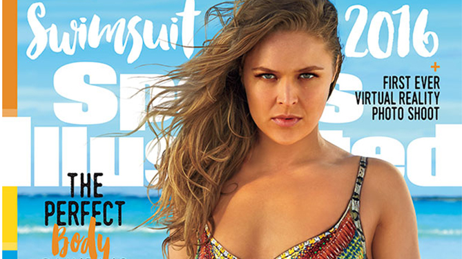Rousey will be on one of three versions of the SI swimsuit issue cover (Courtesy: Sports Illustrated)