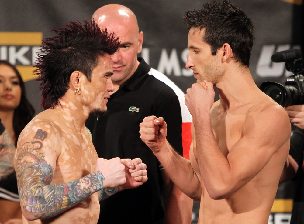 TUF 13 Finale Weigh-ins: Jorgensen vs. Stone