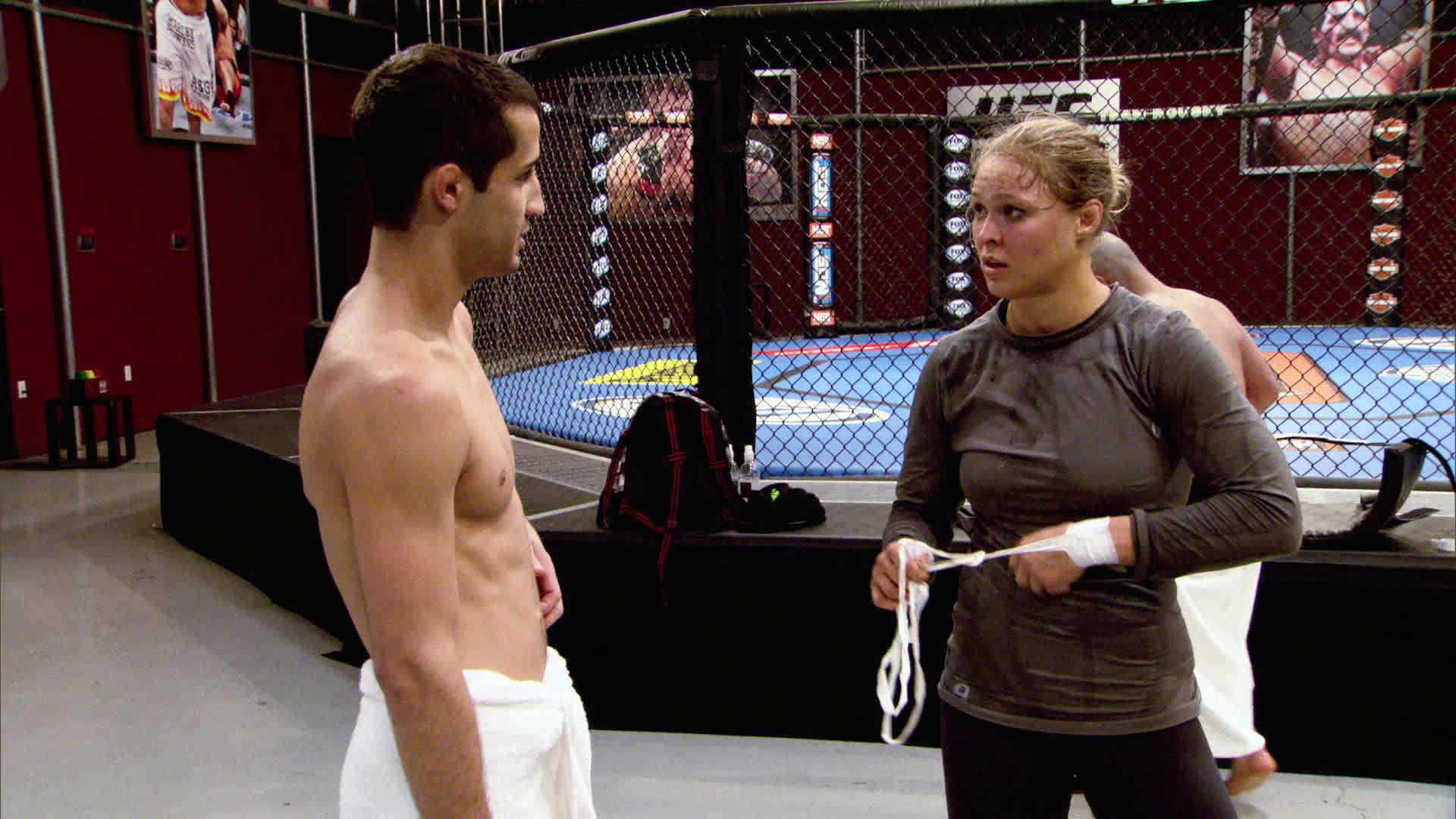 Ronda talks with Anthony