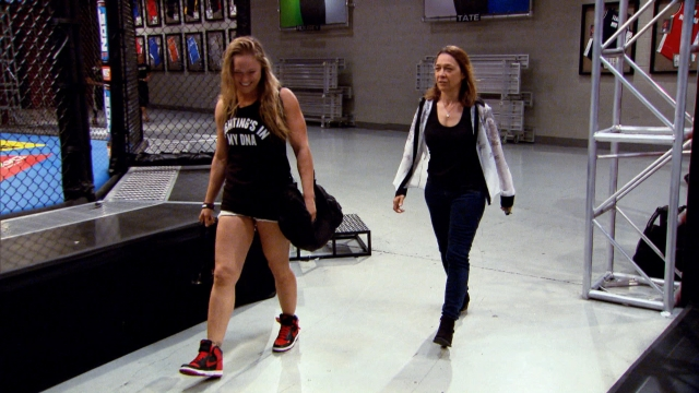 Ronda and her mother, Ann Maria Rousey