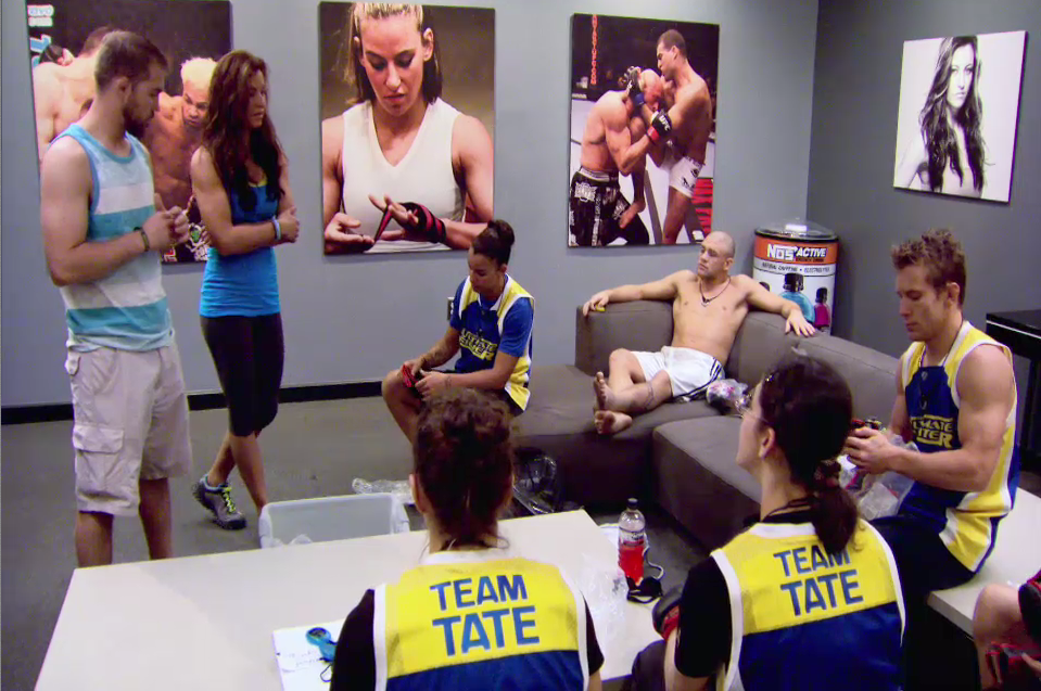 Miesha talks to Team Tate
