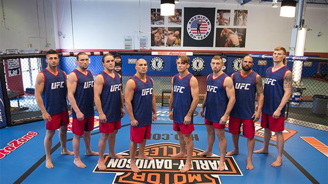 American Top Team: From left-right - Sabah Homasi, Steve Carl, Michael Graves, Hayder Hassan, Nathan Coy, Uros Jurisic, Marcelo Alfaya, Steve Montgomery