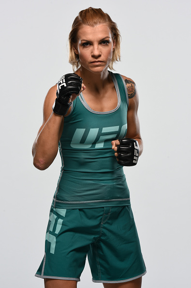 Melinda Fabian poses for a portrait during the filming of The Ultimate Fighter