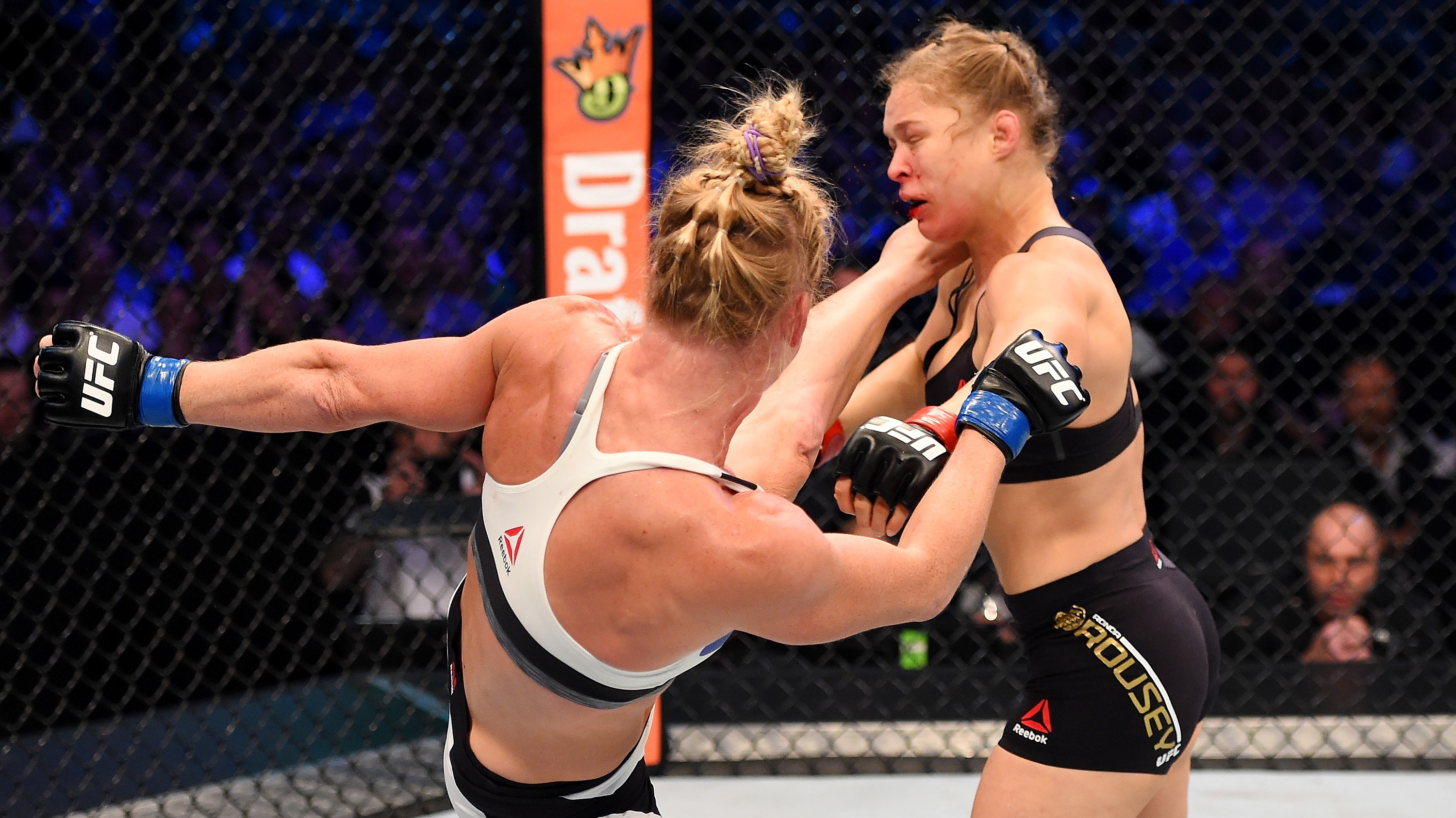 This kick sent shockwaves throughout the world as Holm beat Rousey (Photo by Josh Hedges/Zuffa LLC/Zuffa LLC via Getty Images)
