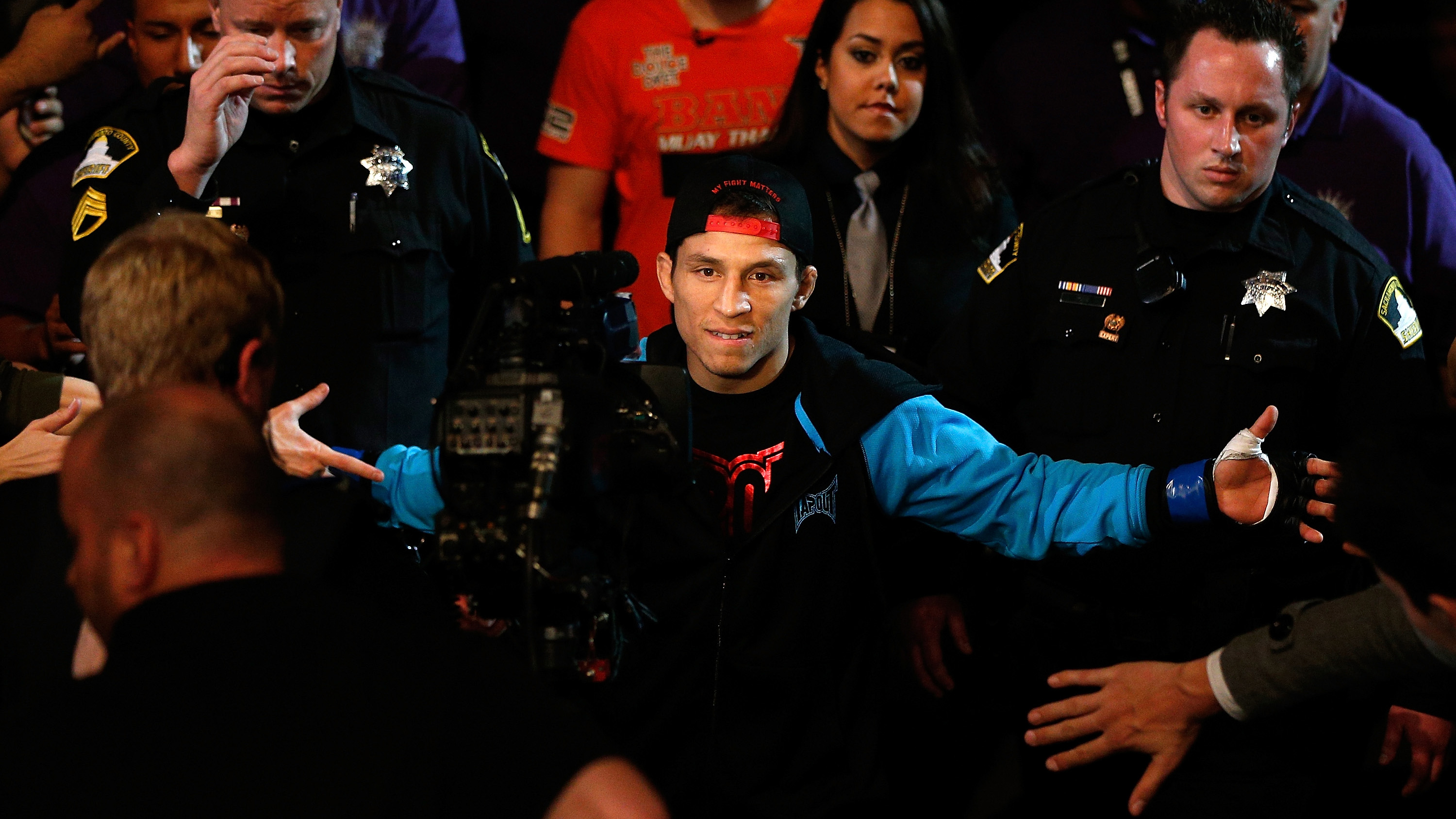 Benavidez knows how to amp up a crowd (Photo by Josh Hedges/Zuffa LLC/Zuffa LLC via Getty Images)