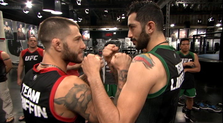 Marcelo Rojo of Team Griffin and John Bedoya of Team Liddell get ready to face off to determine who will be a semifinalist in this weeks episode of The Ultimate Fighter Latin America