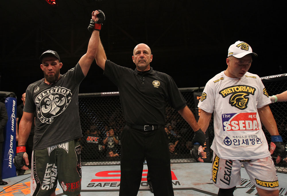 Court McGee celebrates his win.