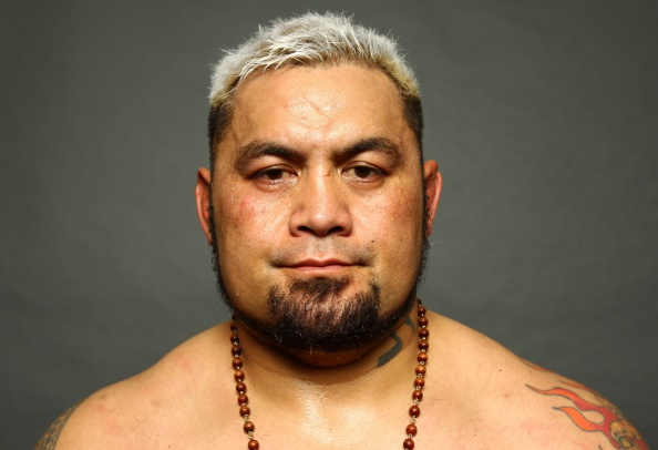 SAITAMA, JAPAN - SEPTEMBER 20: Mark Hunt poses for a photo after his win backstage during the UFC Fight Night event inside the Saitama Arena on September 20, 2014 in Saitama, Japan. (Photo by Mike Roach/Zuffa LLC/Zuffa LLC via Getty Images)