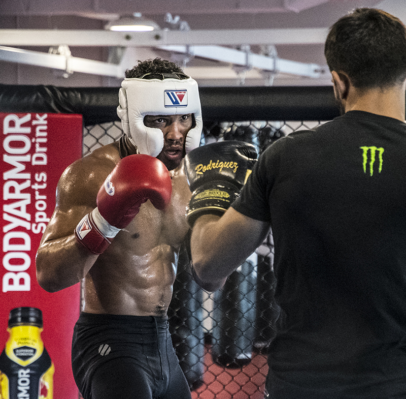 Las Vegas 4/11/18 - UFC fighters Kevin Lee and Yair Rodriguez sparring at the UFC Performance Institute in las Vegas. (Photo credit Juan Cardenas)