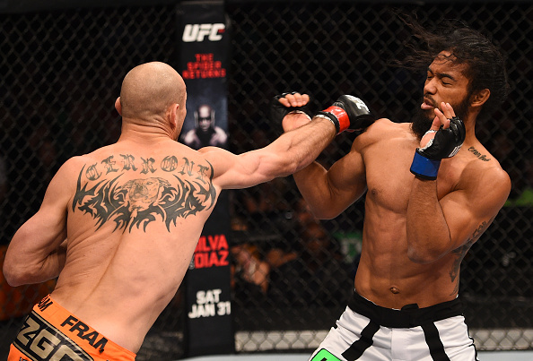 Cerrone (left) against Henderson