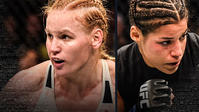 Valentina Shevchenko (left) faces Julianna Pena (right) in the main event of Fight Night Denver on Jan. 28.