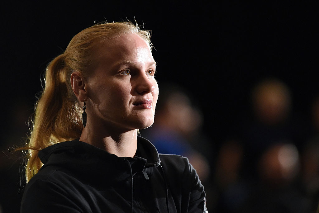 ORLANDO, FL - DECEMBER 18:  Valentina Shevchenko of Russia waits backstage during the UFC weigh-in inside the Orange County Convention Center on December 18, 2015 in Orlando, Florida.  (Photo by Mike Roach/Zuffa LLC)