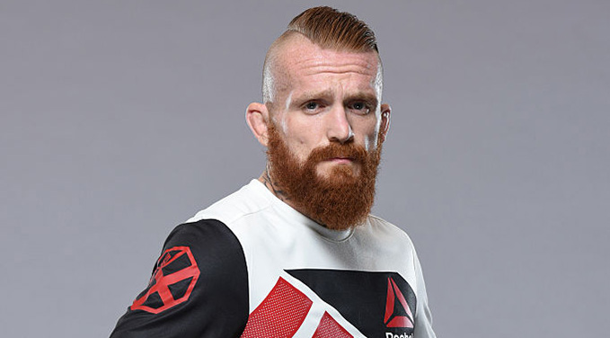 HAMBURG, GERMANY - AUG. 31: Jim Wallhead of England poses for a portrait during a UFC photo session at the Radisson Blu, Hamburg. (Photo by Mike Roach/Zuffa LLC)