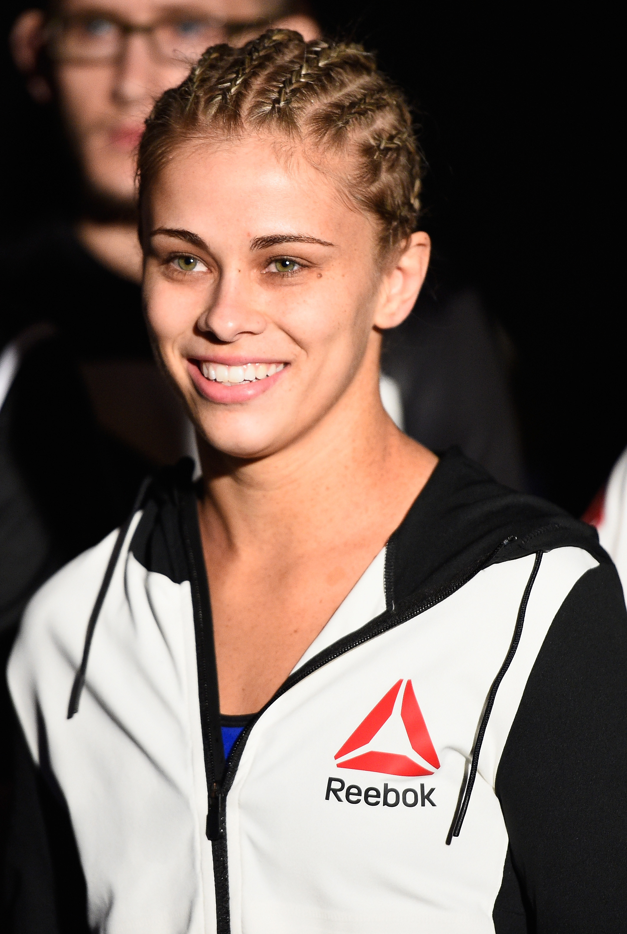 Paige VanZant walks to the Octagon to face <a href='../fighter/Alex-Chambers'>Alex Chambers</a> in their women's strawweight bout during the UFC 191 event inside MGM Grand Garden Arena on September 5, 2015 in Las Vegas, Nevada. (Photo by Jeff Bottari/Zuffa LLC)