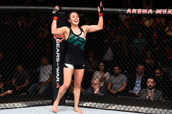 Alexa Grasso earned a unanimous decision victory in her UFC debut at Fight Night Mexico City
