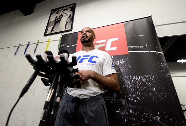 David Branch speaks to the media after an open workout session on September 14, 2017 in Pittsburgh, Pennsylvania. (Photo by Brandon Magnus/Zuffa LLC)