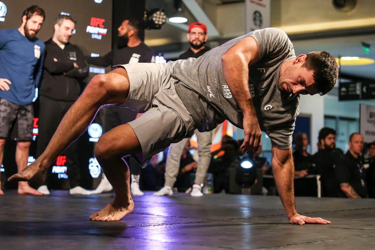 Demian Maia at UFC Fight Night Chile open workouts.