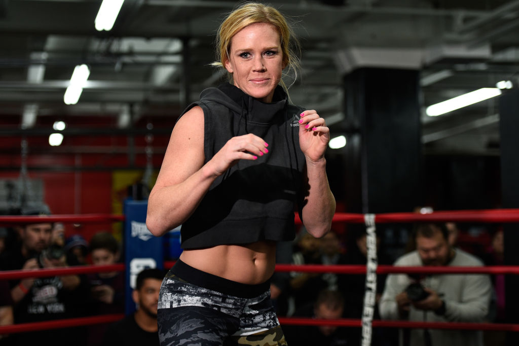 BROOKLYN, NY - FEBRUARY 09: Holly Holm holds an open workout for fans and media at Gleason's Gym on February 9, 2017 in Brooklyn, New York. (Photo by Jeff Bottari/Zuffa LLC