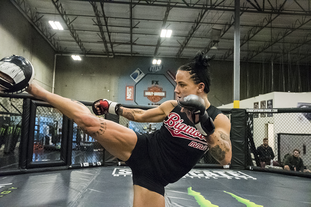 Jessica-Rose Clark made her successful UFC debut defeating Bec Rawlings last November by split decision. She connected 85% of her strikes from the distance.