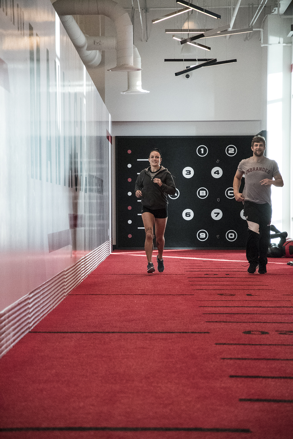 During the afternoon, Jessica-Rose Clark along with her team mate and The Ultimate Fighter winner Andrew Sanchez finished the day at the UFC Performance Institute.