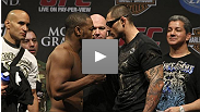 Smiles and shoves at the official UFC 108 weigh-in -- watch it here.