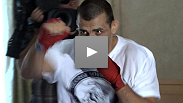 George Sotiropoulos puts it all together at open workouts Wednesday