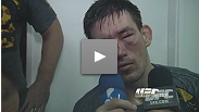 Demian Maia post-war -- broken nose, big heart and ready to do it all over again