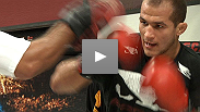 Heavyweights Junior Dos Santos and Roy Nelson put on a show for the fans at UFC 117 open workouts.