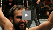 Pedigreed wrestler Johny Hendricks knocks down Charlie Brenneman ... over and over... with newfound hands.