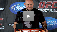 "UFC President Dana White discusses the UFC's return to the Midwest, fighters having ""off"" nights, and the continued growth of MMA at the UFC 119 Pre Fight Press Conference."