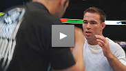 UFC 121&#39;s stars enter the cage in Anaheim, and Jake Shields takes his very first steps inside the Octagon.