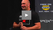 Dana White and Joe Rogan talk to fans before the weigh-in for UFC 122 in Oberhausen, Germany.