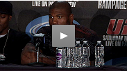 Rampage talks to the media after his surprising - to him, at least - win over Lyoto Machida.