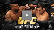 Finishes, grudges, old rivals, former champions and new faces - watch UFC 123 again at UFCLive.com.