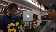 Go Blue! UFC fighter Forrest Griffin drops by the University of Michigan football practice this week.
