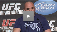 UFC pres Dana White does his thing in Detroit at the UFC 123 pre-fight press conference.