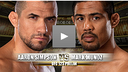 UFC&reg; 123 Prelim Fight: Aaron Simpson vs Mark Mu&ntilde;oz