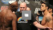 UFC® 126 weigh-in at Mandalay Bay Hotel & Casino on February 4, 2011 in Las Vegas, NV (Photos by Josh Hedges/Zuffa LLC/Zuffa LLC via Getty Images)