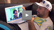 As he trains and travels for UFC 128, Mauricio Shogun Rua makes time for his family in a modern way.