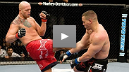 Dan Evensen looks for his first UFC® win against champion kickboxer Pat Barry at UFC® 92.